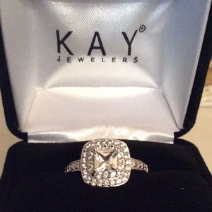 White Sapphire. Size 7 from Kay Jewelers.